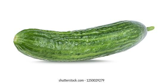 Cucumber isolated on white background