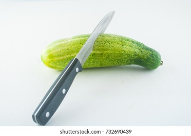Cucumber isolated on the white background .