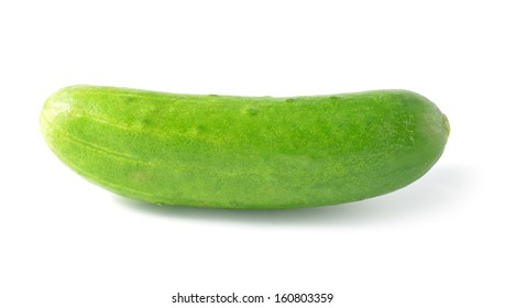Cucumber isolated over white background.