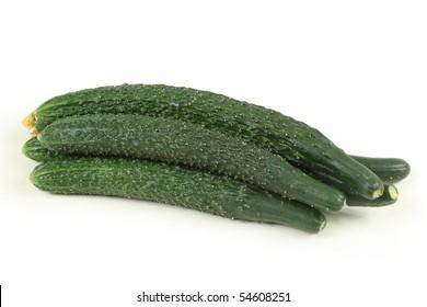 Cucumber on white background