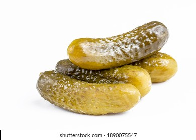 Cucumber pickle on the white background