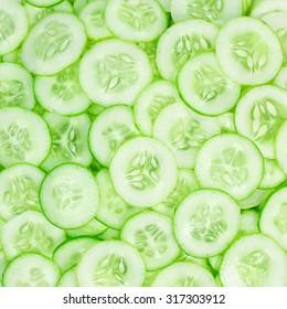 cucumber slice pattern background