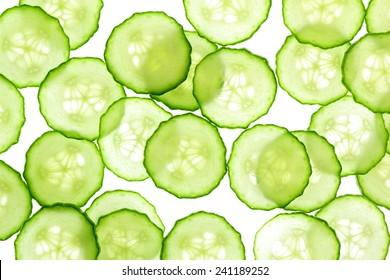 Cucumber slices background