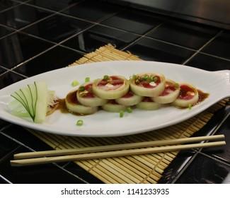 Cucumber Wrap Sushi plate