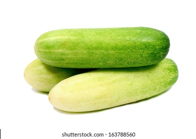 Cucumbers (Cucumis Sativus Linn) isolated on white background.
