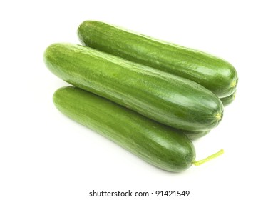 Cucumbers isolated on white background