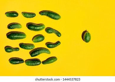 Cucumbers symbolizes the process of fertilization of the ovum by the sperm.