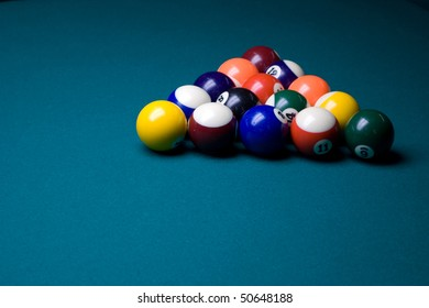 Cued Pool Balls