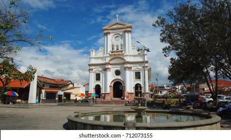 Cuenca, Azuay / Ecuador - August 27 2017: View of the Church of San Roque