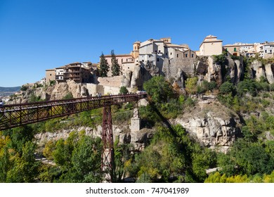 CUENCA, CASTILLA LA MANCHA / SPAIN -   NOVEMBER 2, 2017: Cuenca is the capital of the province of Cuenca.This UNESCO World Heritage city is one of the most beautiful medieval towns in Spain