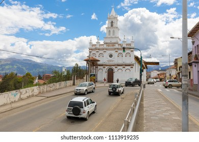 Cuenca Ecuador June 2018 among the many churches in the city this call Todos Santos is located in a vantage point and is famous for its gazebo with crucifix