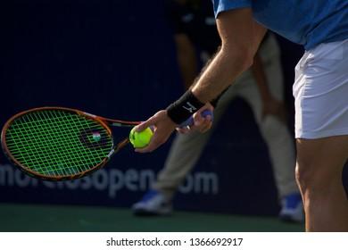 Cuernavaca, Morelos, México; February 23, 2019. MORELOS OPEN CREDITO REAL 2019 ATP Challenger Tour Semi-Final, player Steven Diez -CAN- match against Gonzalo Escobar from Ecuador.