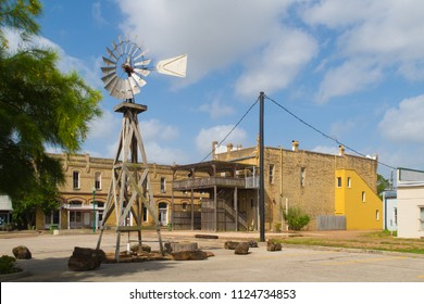 CUERO, TEXAS - JUNE 10 2018: an old Texas town that was once very properous
