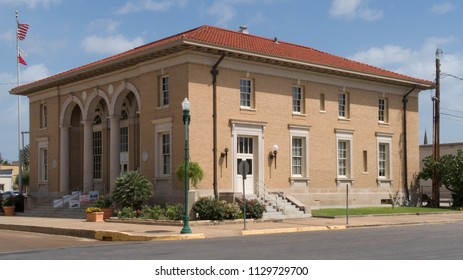 CUERO, TEXAS - JUNE 10 2018: the Cuero Heritage Museum in housed in the former post office