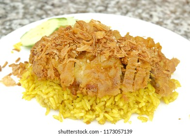 Cuisine and Food, Chicken Biryani or Basmati Rice Seasoned with Chicken and Spice. One of The Most Popular Dish in The Wolrd.