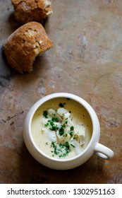 Cullen skink, creamy Scottish soup with smoked hadock