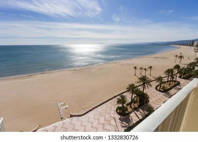 Cullera beach seen from a balcony