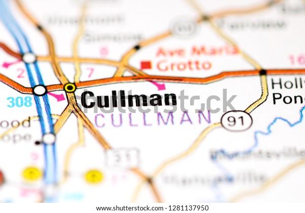 Cullman Alabama Usa On Map Stock Photo (Edit Now) 1281137950