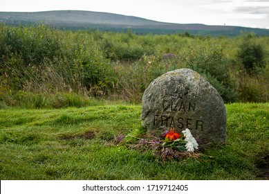 Culloden moor, Scotland, UK; April 25th 2018: common grave of clan Fraser.
