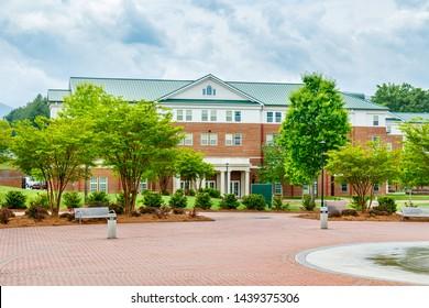 CULLOWEE, NC, USA - MAY 4: Blue Ridge Residence Hall on May 4 2019 at Western Carolina University in Cullowhee, North Carolina.