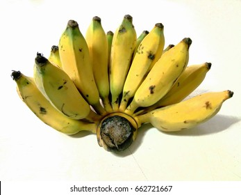 Cultivated banana isolated on white background.