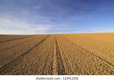 Cultivated field on a slope