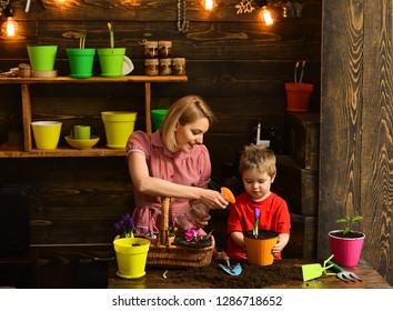 cultivation. cultivation of ground with happy family. cultivation and agriculture concept. working in green environment. cultivation of ground in greenhouse.