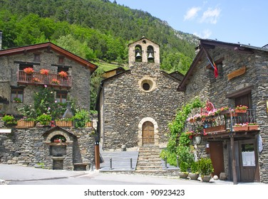Cultural heritage of Andorra, 17th century church Sant Serni in Llorts, of medieval tradition.