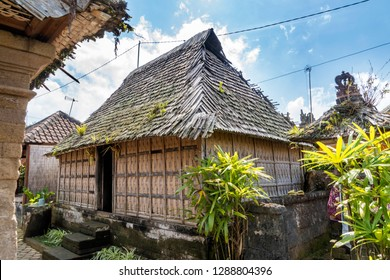 Cultural heritage house in the traditional village of Penglipuran, Bali, Indonesia