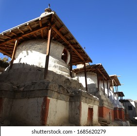 Cultural stupa from city of wall - Lo Manthang, MUSTANG