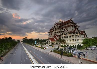 Culture center in Ubon Ratchathani Rajabhat University, Thailand.