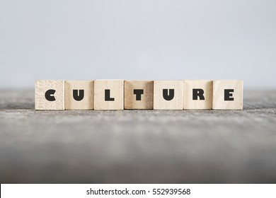 CULTURE word made with building blocks