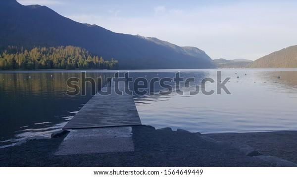 cultus lake bc canada in the morning