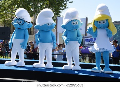 CULVER CITY - APR 1:  Smurfs arrives to the SMURFS: THE LOST VILLAGE World Premiere  on April 1, 2017 in Culver City, CA