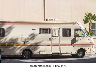 Culver City, CA - December 28: RV prop from Sony television show Breaking Bad December 28, 2015 in Culver City. Breaking Bad is a popular television show in America.