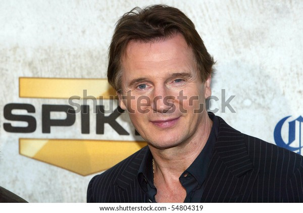 "CULVER CITY, CA - JUNE 5: Liam Neeson arrives at the 4th annual Spike TV's ""Guy's Choice"" held June, 5, 2010 at Sony Studios in Culver City, CA."