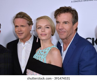"CULVER CITY, CA - OCTOBER 29, 2015: Cary Elwes, Kate Bosworth & Dennis Quaid at the  premiere for ""The Art of More"" at Sony Pictures Studios"