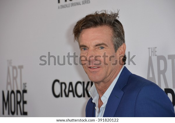 """CULVER CITY, CA - OCTOBER 29, 2015: Dennis Quaid at the  premiere for """"The Art of More"""" at Sony Pictures Studios"""