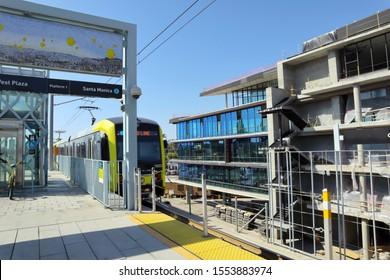 Culver City, Los Angeles, California – October 4, 2019: Metro Rail Expo Line Culver City Station