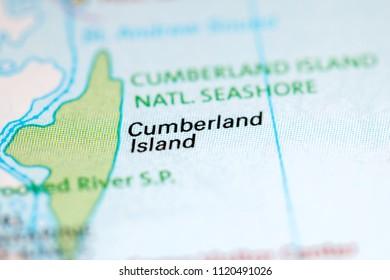 Cumberland Island. Florida. USA on a map