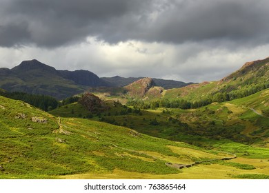 Cumbrian Mountains west of Ambleside, a mountainous area the English Lake District, Located in northwest England  - UNESCO World Heritage Site