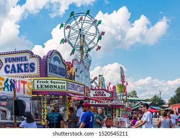 CUMMING, GEORGIA - October 7, 2018: County and local fairs and carnivals are still some of the best values in family entertainment