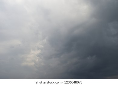 Cumulonimbus cloud formations on tropical sky , Nimbus moving , Abstract background from natural phenomenon and gray clouds hunk