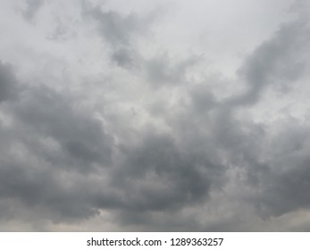 Cumulonimbus cloud formations on tropical sky , Nimbus moving , Abstract background from natural phenomenon and gray clouds hunk , Thailand