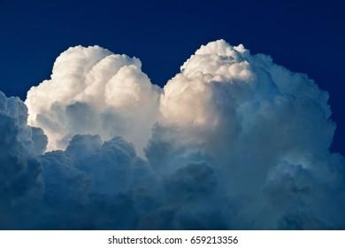 Cumulonimbus Cloud Partially Lit by the Sun