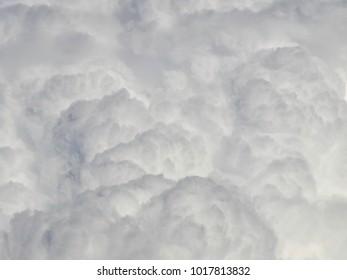 Cumulonimbus cloud in summer day close up