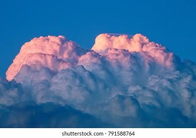 Cumulonimbus Cloud Top at Sunset