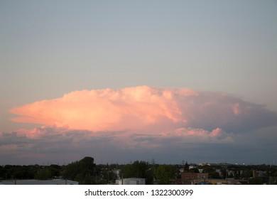 Cumulonimbus Sunset cloud #1