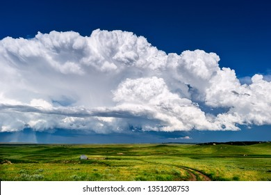 Cumulonimbus thunderstorm clouds
