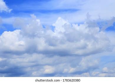 Cumulonnimbus cloud on blue sky